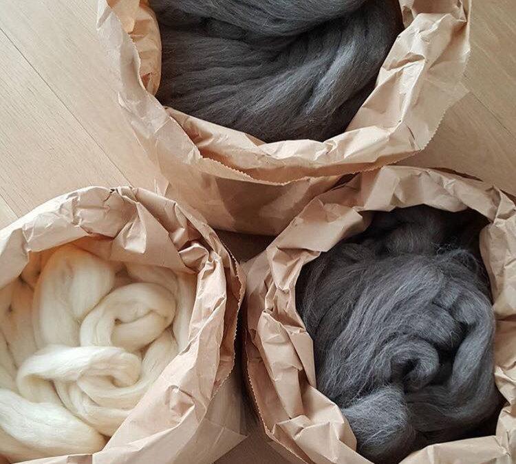 Super hot! Grote bollen Merino wol voor een prachtige deken.