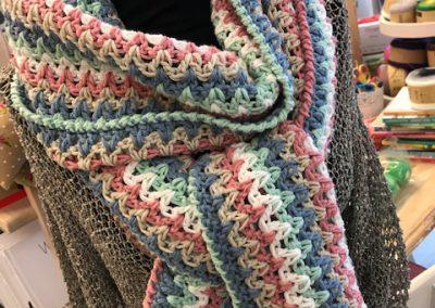 Tante Setje vrolijke strepen sjaal